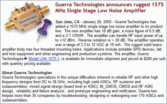 Guerra Technologies - RF ASIC and Modules